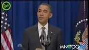 Обама изтреще, oтваря врата с шут
