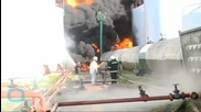 Deadly Blaze Engulfs Oil Facility Near Kiev