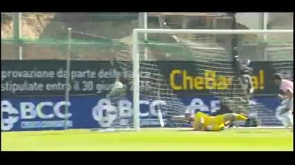 Първият гол на Ивайло Чочев за Палермо