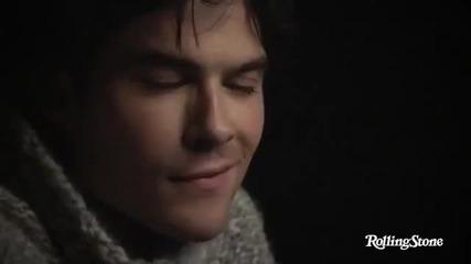The Vampire Diaries Nina Dobrev, Ian Somerhalder, Paul Wesley Rollingstone photoshoot - 2011