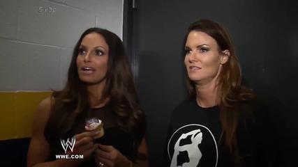 Wwe Divas Trish Stratus and Lita After Their Returns On Raw 1 000
