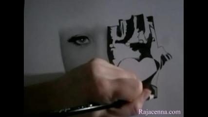 Сладко момиче рисува Lady Gaga