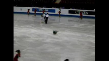 Световно Първенство фигурно пързаляне за юноши 23.02 - 01.03 2009 г. Откриване:една българска роза