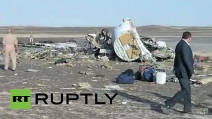 Egypt: FIRST SHOTS of the crashed Russian plane in Sinai