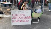 Italy: Protests against compulsory COVID pass for workers in Genoa