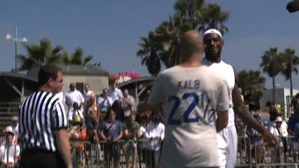 Lebron James gets beat by David Kalb - Horse in Venice