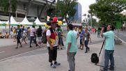 Brazil: Rio warming up ahead of Brazil v Germany Olympic football final