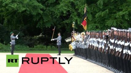 Германия: Гаук приветства краля на Йордания Абдула II с пълни военни почести в Берлин