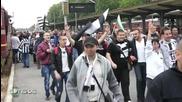 Фенове на Локомотив Пловдив заляха Бургас, без проблеми на стадиона