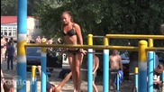Рускини тренират на улицата