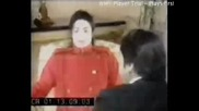 Michael Jackson cant stop laughing during an interview