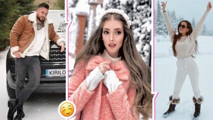 Снежна радост обхвана родния хайлайф, споделиха приказни зимни снимки