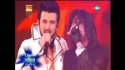 Победителят в X Factor 2015-та Славин Славчев и Joe Lynn Turner