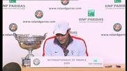 Roland Garros 2009 : Интервю с Федерер след финала