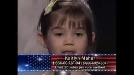 Americas Got Talent - Невероятно момиченце пее
