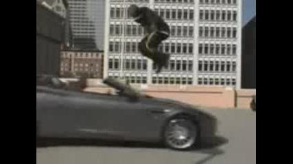 Kobe Jumps Over A Speeding Car