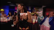 Adam Rose shows Damien Sandow how you Sonic: Raw, July 14, 2014