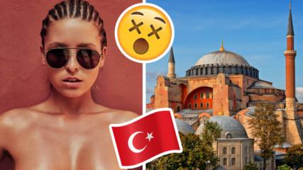 Какъв скандал! Моделка се снима гола в джамия, ядоса мюсюлманския свят