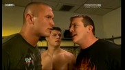 Raw 07/06/09 Ted Dibiase & Randy Orton with Cody Rhodes [backstage]