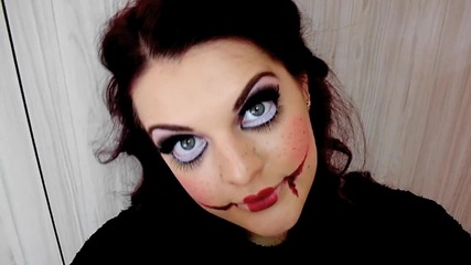 Страшна кукла - грим за Halloween