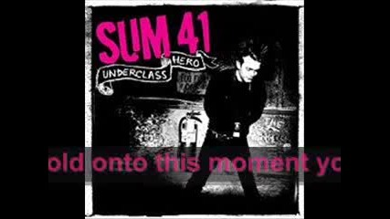 Sum 41 - With Me [ Lyrics ]