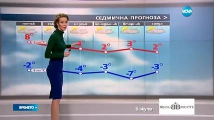 Прогноза за времето (01.12.2016 - централна емисия)