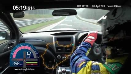 Tommi Makinen с рекорд на Nurburgring - 2010 Impreza