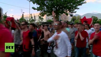 Albania: Hundreds march to Macedonian embassy in Tirana in solidarity with Kumanovo