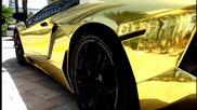 Първото в света позлатено Lamborghini Adventador Lp700