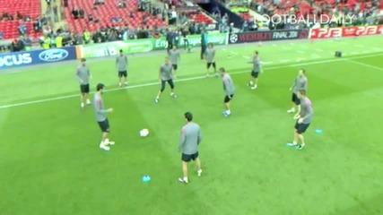 Барселона разцъкват на тренировка