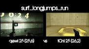 qewi vs toni on surf longjumps run