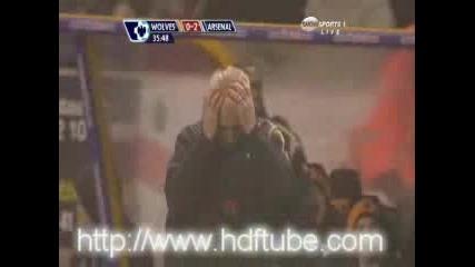 Уулвърхямптън 1 - 4 Арсенал/07.11.2009/ [][][] Wolverhampton 1 - 4 Arsenal /07.11.2009/