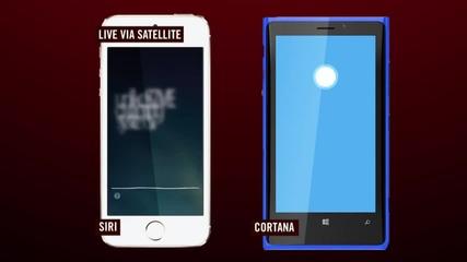 Кортана срещу Сири [ Windows Phone vs. iphone ]