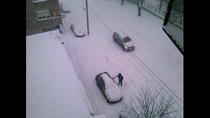 снежна виелица Разград 19.12.2012