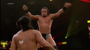 Justin Gabriel is caught off guard and pays the price