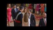 David Bisbal en el Besamanos a Los Nuevos Reyes de Espana Felipe & Letizia en Palacio