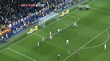 Този наистина е луд. Гол на Пуйол. Реал М. - Барселона 1-2