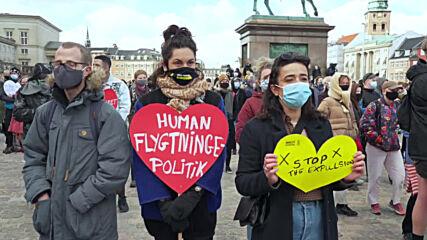 Denmark: Copenhagen demonstrators protest govt's plan to send refugees back to Syria