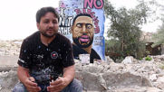 Syria: Artist paints George Floyd mural in bombed-out area of Idlib town