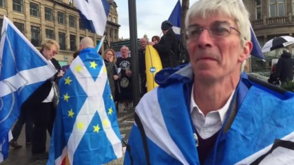 UK: Scottish independence activists rally in Edinburgh
