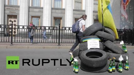 Ukraine: 'Molotov cocktails' outside the Rada as law 1558-1 talks postponed