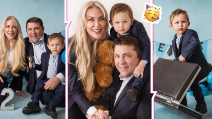 Семейната идилия на Антония Петрова: Синът ѝ навърши 2 г., подариха си чудна фотосесия