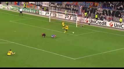 Владислав Стоянов спасява дузпа за Шериф - Базел 1 - 0 Шериф