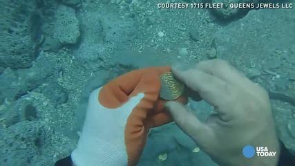 Водолаз открива златни монети за над $1 Милион
