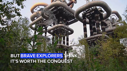 Urban Exploration: Fly over these giant futuristic high-voltage tubes