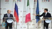 Italy's Renzi: No Tension With France Over Illegal Migrants