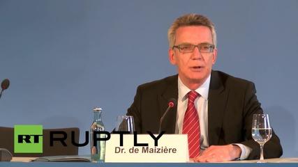 "Germany: EU immigration quota is ""courageous"" yet divisive step - de Maiziere"