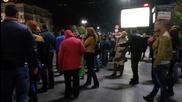 Напрежение между протестиращи и граждани