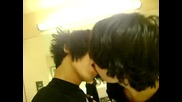 Emo Guys kissing