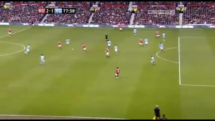 Rooney Goal Manchester united vs Manchester city 2 - 1 (12.02.2011) hd